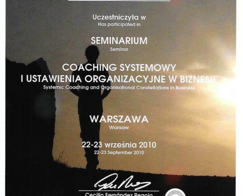 certyfikat Kamila Malanowicz